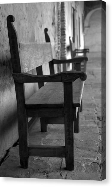 Mission San Juan Capistrano Bench Canvas Print