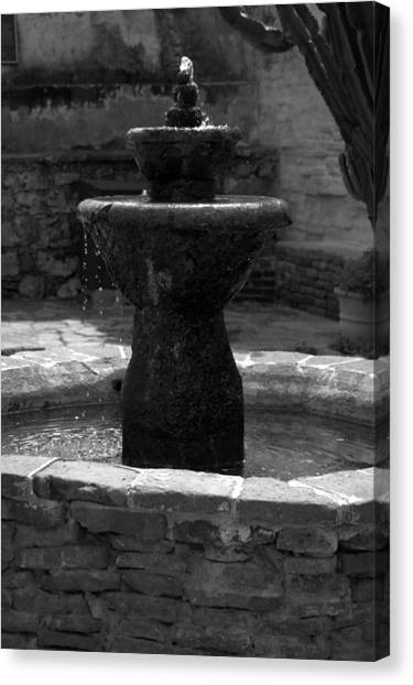Mission San Juan Capistrano Fountain Canvas Print
