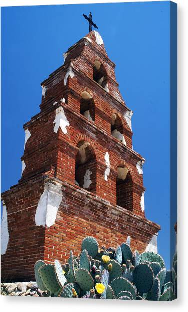 Mission San Miguel Bell Tower Canvas Print