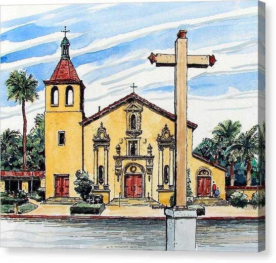 Mission Santa Clara De Asis Canvas Print
