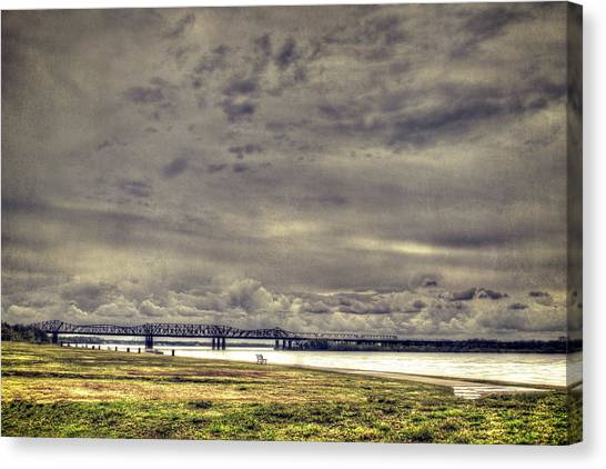 Canvas Print featuring the photograph Mississipi River by Christopher Meade