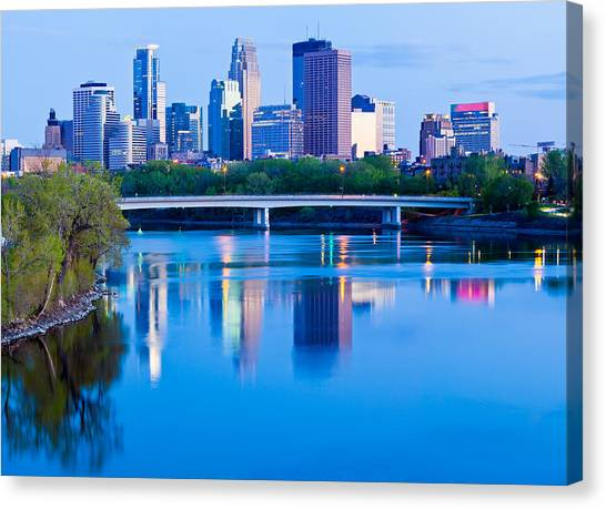 Mississippi And Minneapolis Canvas Print