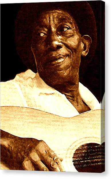 Rhythm Canvas Print - Mississippi John Hurt by Jeff DOttavio