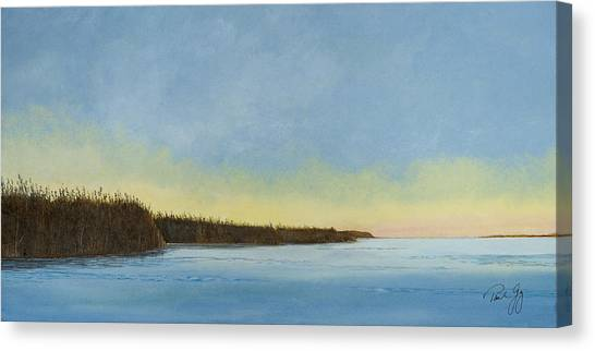 Mississippi River Delta At Dawn Canvas Print