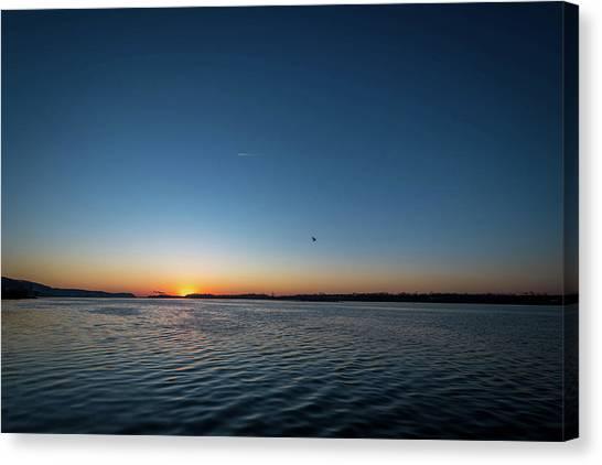 Mississippi River Sunrise Canvas Print