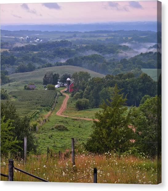 Mississippi River Valley 2 Canvas Print