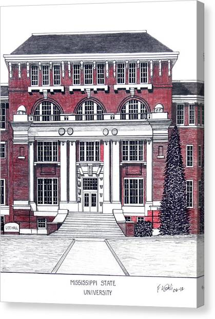 Mississippi State University Canvas Print - Mississippi State University by Frederic Kohli
