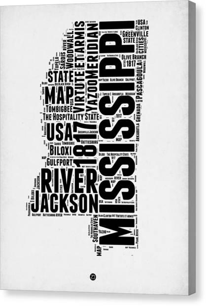 Mississippi State Map Canvas Prints Fine Art America