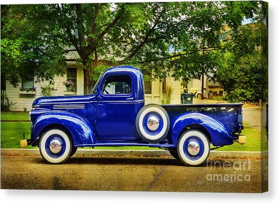 Missoula Blue Truck Canvas Print