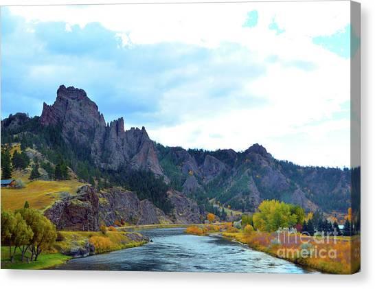 Missouri River Colors Canvas Print