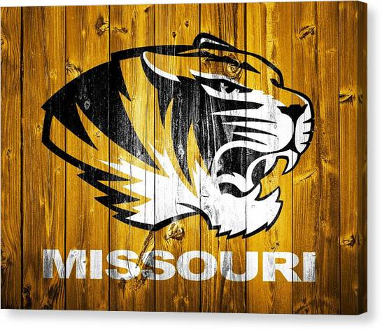 University Of Missouri Canvas Print - Missouri Tigers Barn Door by Dan Sproul