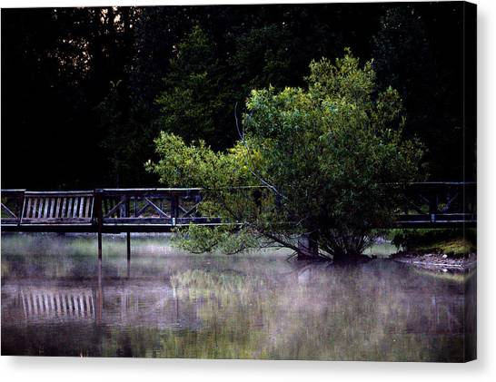 Mist On The Water Canvas Print