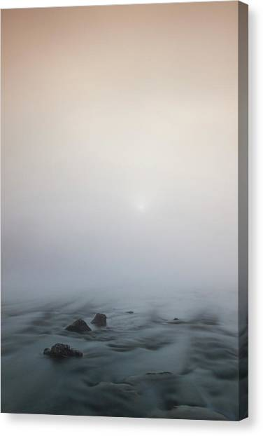 Canvas Print featuring the photograph Mist Over The Third Stone From The Sun by Davor Zerjav