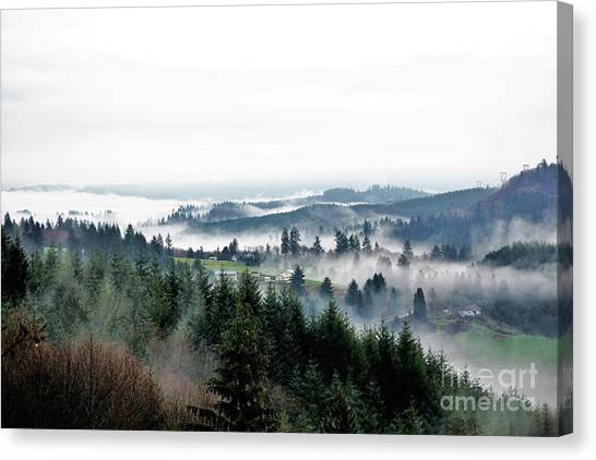Mist Rising Canvas Print