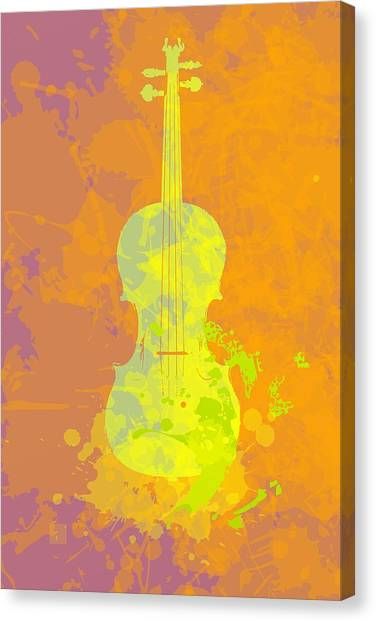 Mist Violin Canvas Print