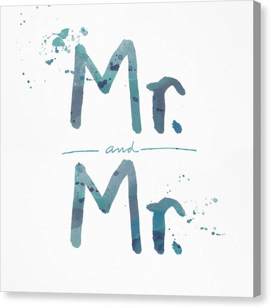 Wedding Canvas Print - Mister And Mister  by Linda Woods