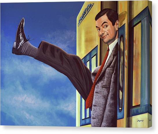 The Bean Canvas Print - Mister Bean by Paul Meijering