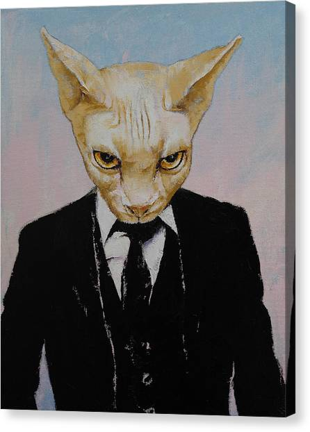 Sphynx Cats Canvas Print - Mister Cat by Michael Creese