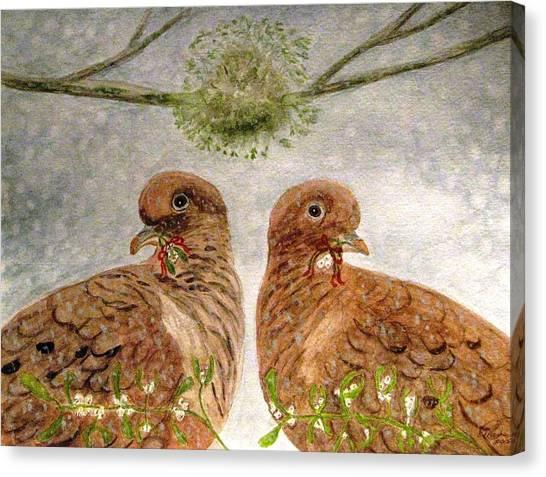 Mistletoe Magic Canvas Print