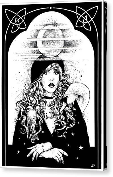 Stevie Nicks Canvas Print - Mistress Of My Faith by Johanna Pieterman
