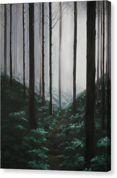 Mists Of Past Times Canvas Print by Maren Jeskanen