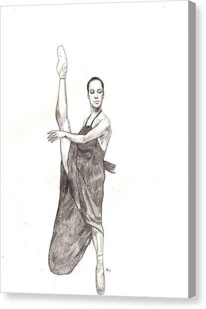 Misty Ballerina Dancer  Canvas Print