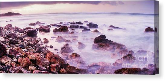 Boulder Canvas Print - Misty Bay by Jorgo Photography - Wall Art Gallery