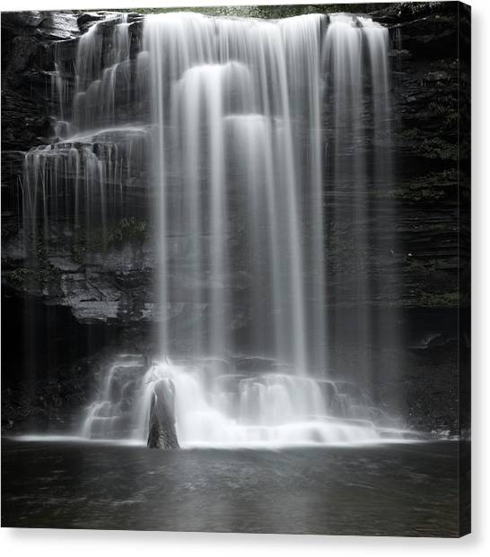 Misty Canyon Waterfall Canvas Print