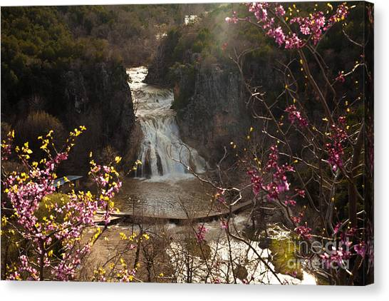 Misty Day In Turner Falls Canvas Print