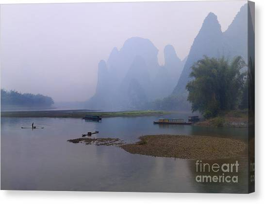 Misty Early Morning Canvas Print by PuiYuen Ng