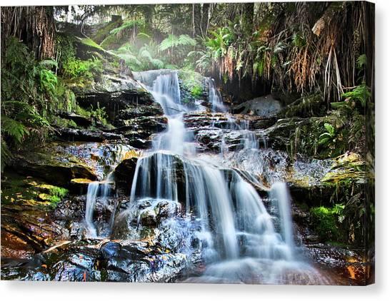 Rainforests Canvas Print - Misty Falls by Az Jackson