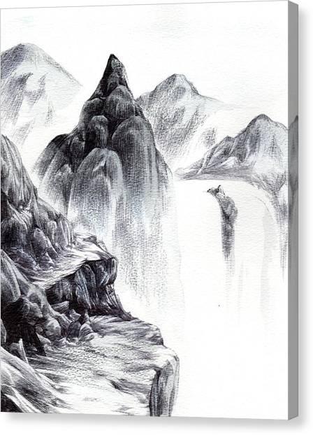Misty Gorge Canvas Print