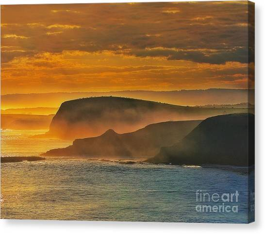 Misty Island Sunset Canvas Print