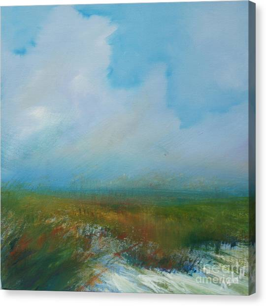 Misty Marsh Canvas Print by Michele Hollister - for Nancy Asbell