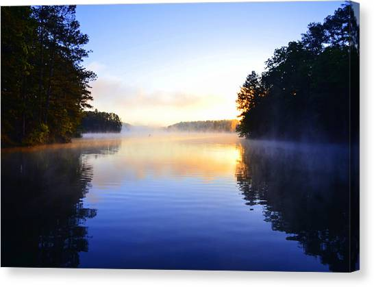 Misty Morining Canvas Print