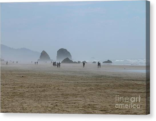 Canvas Print - Misty Morning At Cannon Beach by Christiane Schulze Art And Photography