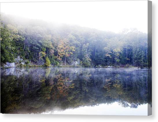 Misty Morning At John Burroughs #2 Canvas Print