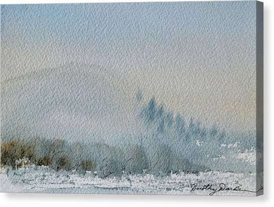 A Misty Morning Canvas Print