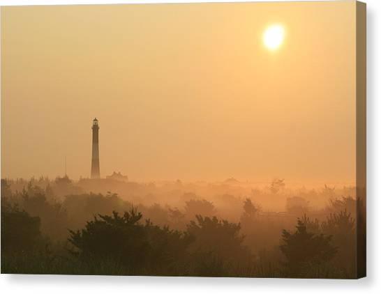 Misty Morning Fire Island Light Canvas Print