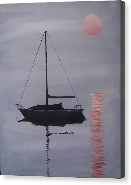 Canvas Print - Misty Morning Mooring by Jack Skinner