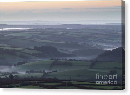 Misty Morning On Exmoor  Canvas Print
