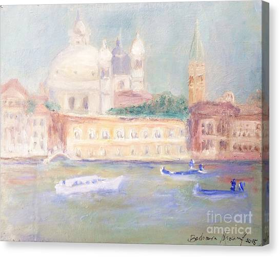 Canvas Print - Misty Morning On The Canale Grande by Barbara Anna Knauf