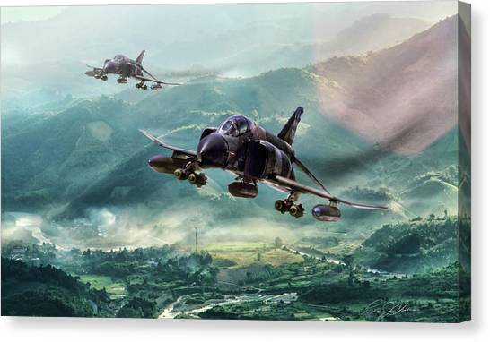 Vietnam War Canvas Print - Misty Mountain Hop by Peter Chilelli