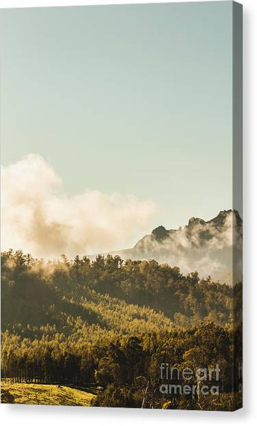 Foggy Forests Canvas Print - Misty Mountain Peaks by Jorgo Photography - Wall Art Gallery