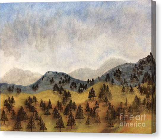 Misty Rain On The Mountain Canvas Print