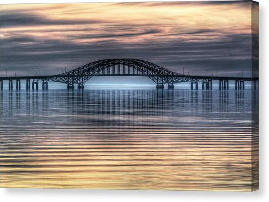 Misty Reflective Sunrise Canvas Print by Vicki Jauron