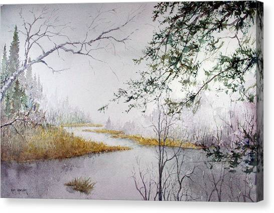 Misty  River Morning Canvas Print