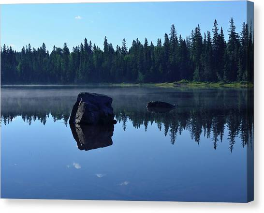 Misty Summer Morning Canvas Print
