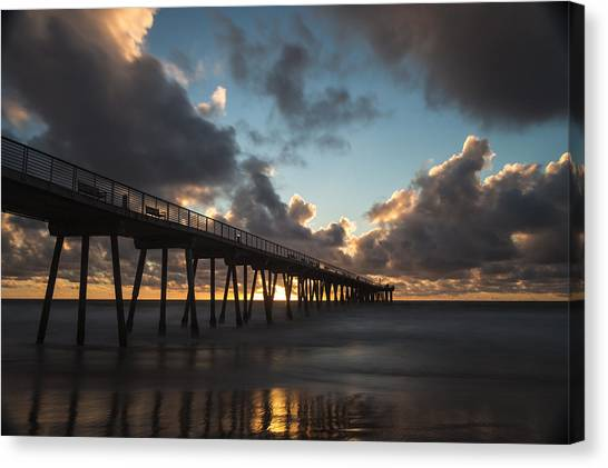 Misty Sunset Canvas Print