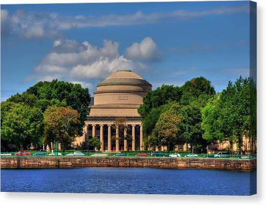 Boston College Canvas Print - Mit - Maclaurin Building 110 - Boston by Joann Vitali